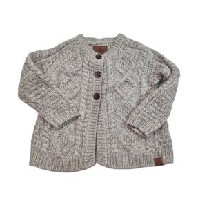 Canadiana Knit 3 Button Cardigan Sweater Grey 2T